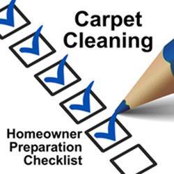 Carpet Cleaning Preparation Checklist